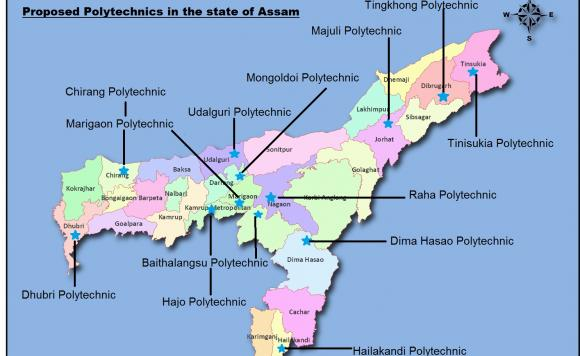 Proposed Polytechnics in Assam